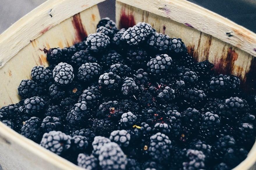 Blackberries in a basket